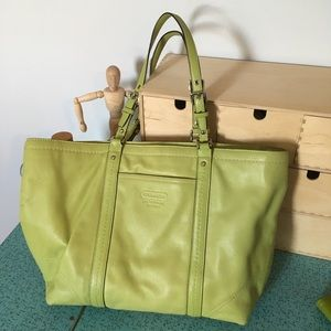 Gently Used Lime Green Coach Purse